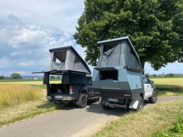 FIFTYTEN Truckbed Camper Individualausbau zwei Fahrzeuge